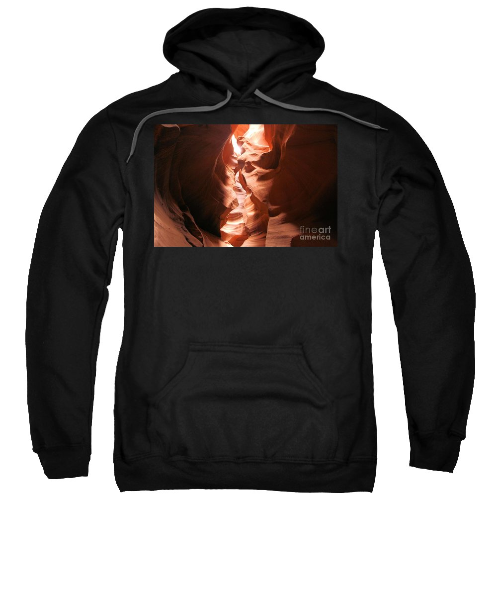 Antelope Canyon Sweatshirt featuring the photograph Light From Above by Adam Jewell