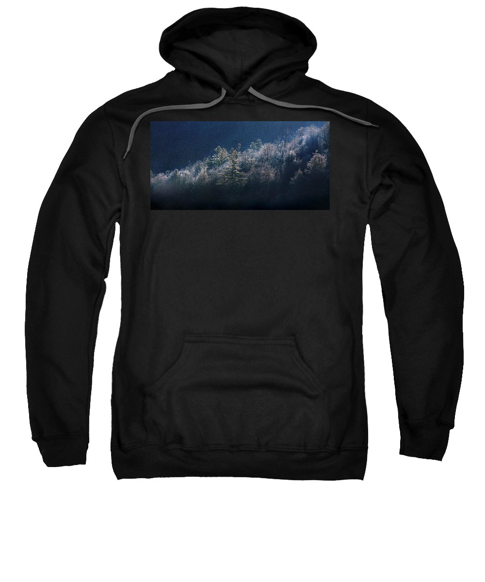 Mountain Sweatshirt featuring the photograph Light Play by Gray Artus
