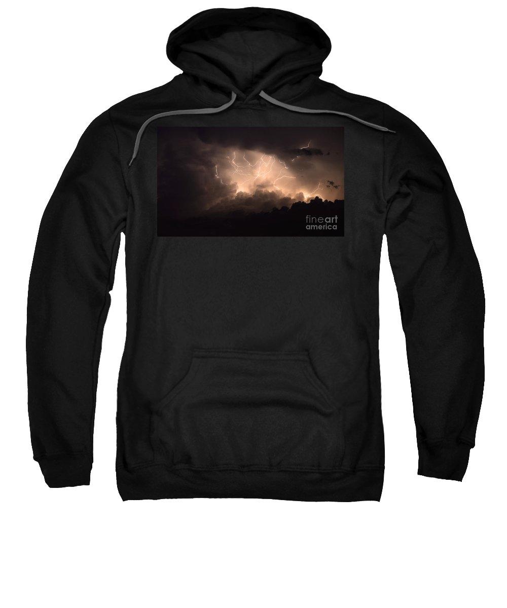 Lightning Sweatshirt featuring the photograph Lightning by Bob Christopher