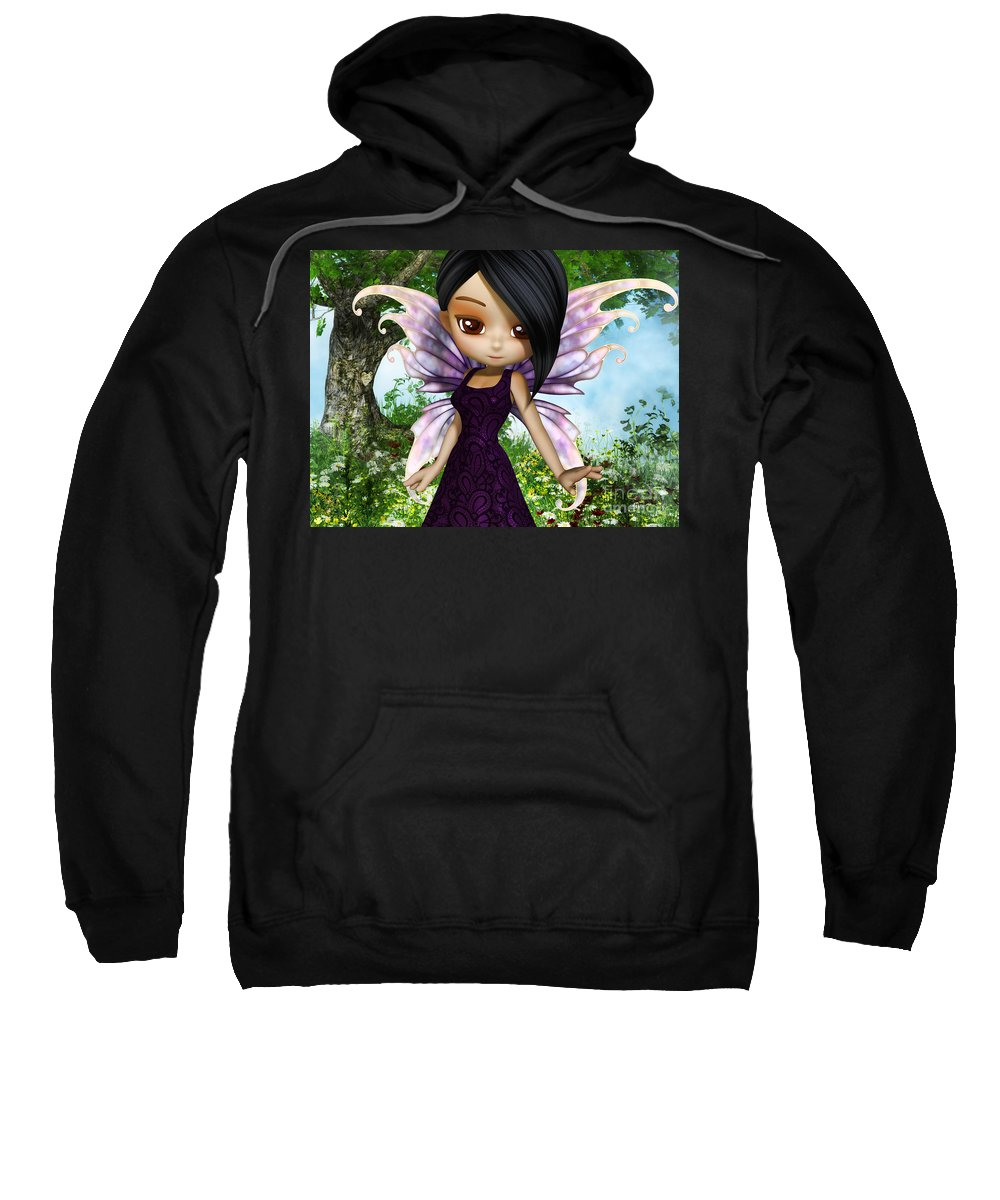 3d Sweatshirt featuring the digital art Lil Fairy Princess by Alexander Butler