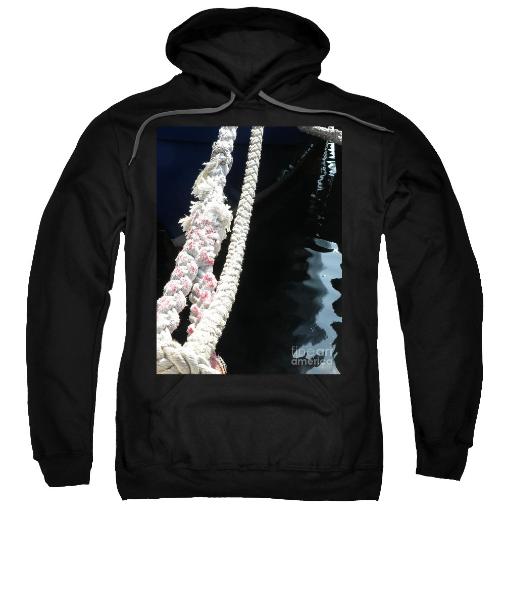 Mooring Sweatshirt featuring the photograph Line Reflections by Lainie Wrightson