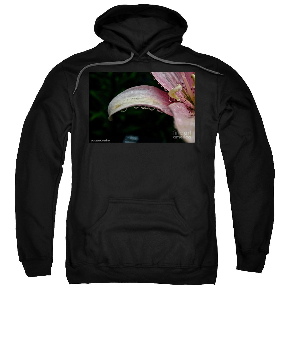 Floral Sweatshirt featuring the photograph Line Up by Susan Herber
