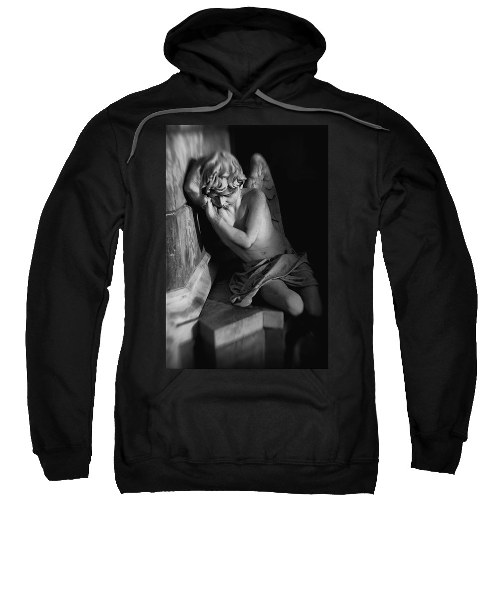 Angel Sweatshirt featuring the digital art Little Angel by Diane Dugas