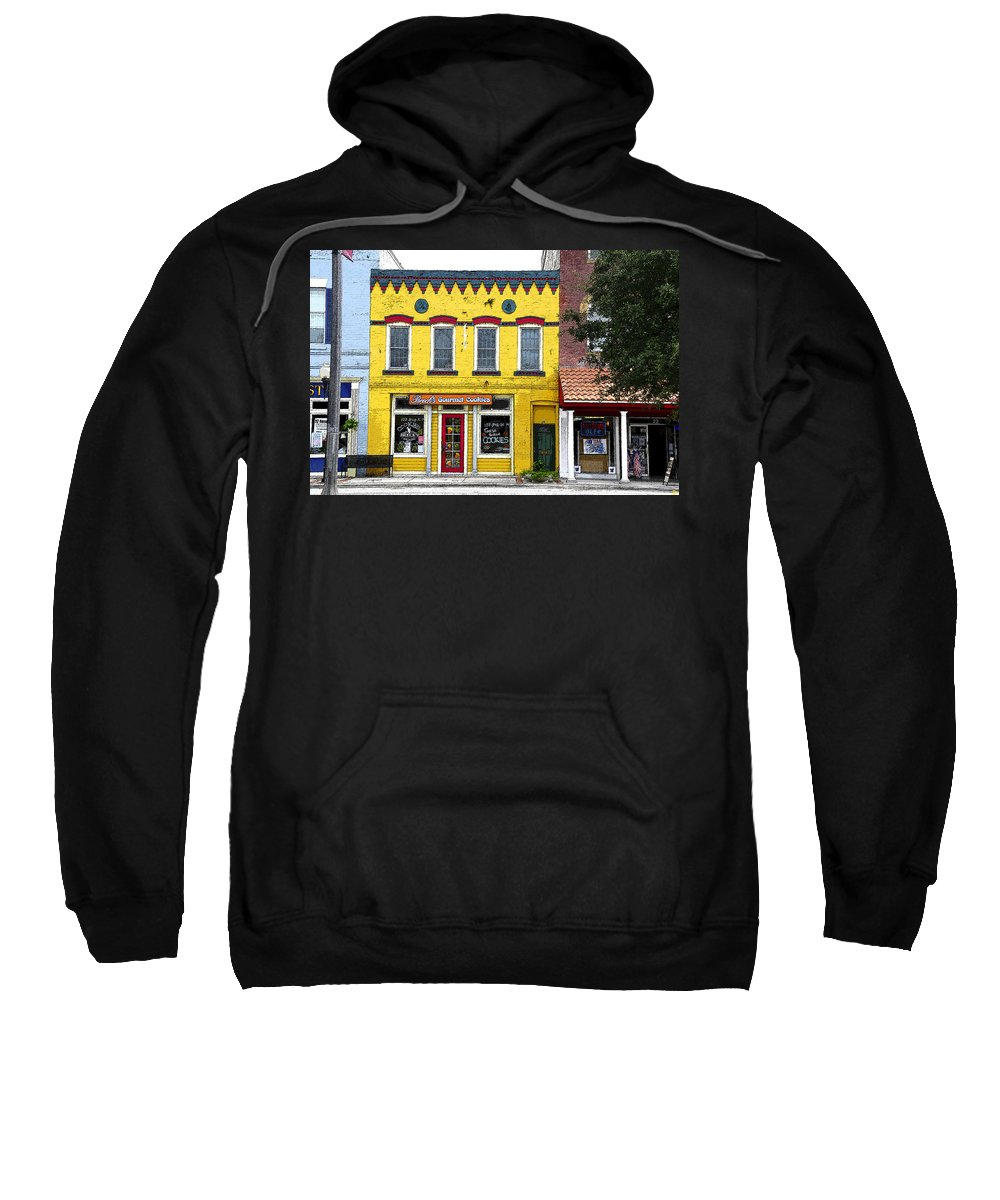 Art Sweatshirt featuring the painting Little Yellow Store by David Lee Thompson