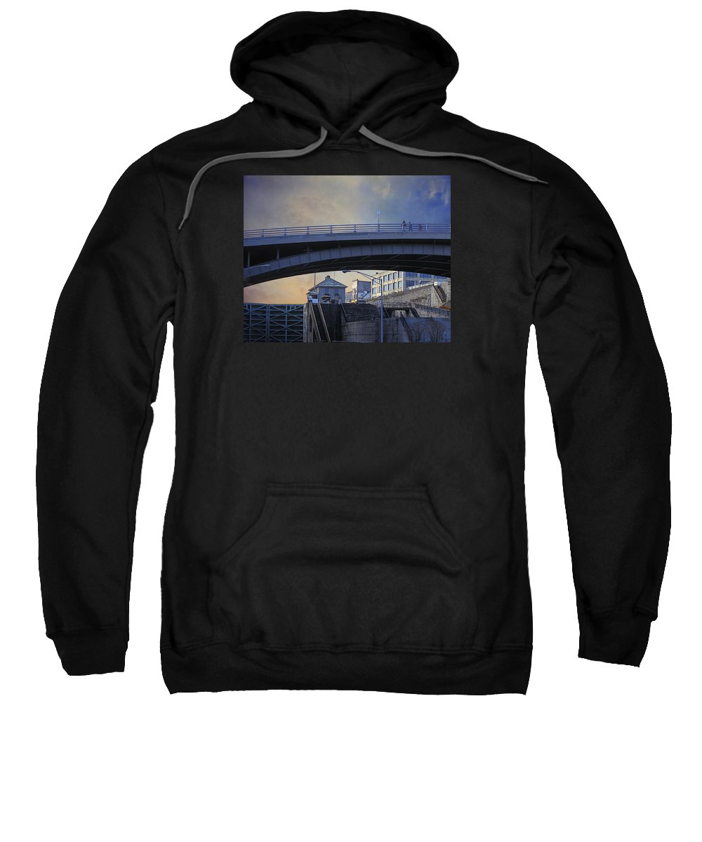 Eric Canal Sweatshirt featuring the photograph Lockport Stroll by Gabe Palmer
