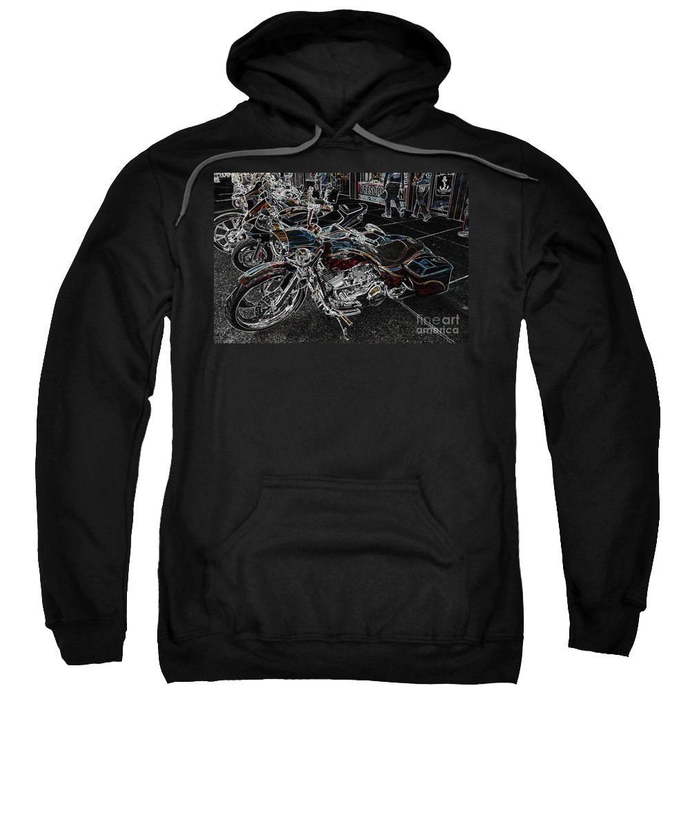 Motorcycles Sweatshirt featuring the photograph Long Body by Anthony Wilkening
