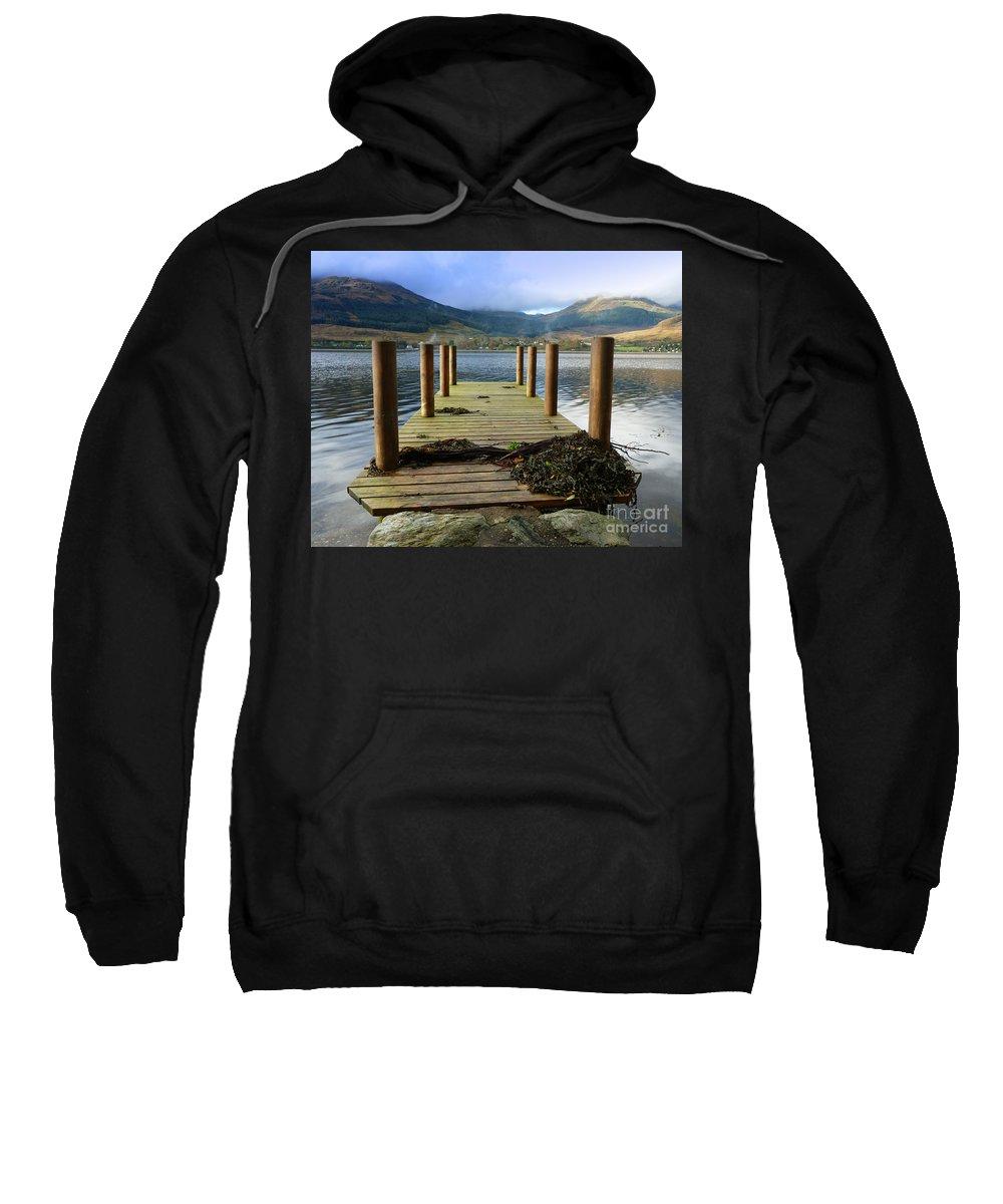Scotland Sweatshirt featuring the photograph Long Walk Off A Short Pier by Lynn Bolt