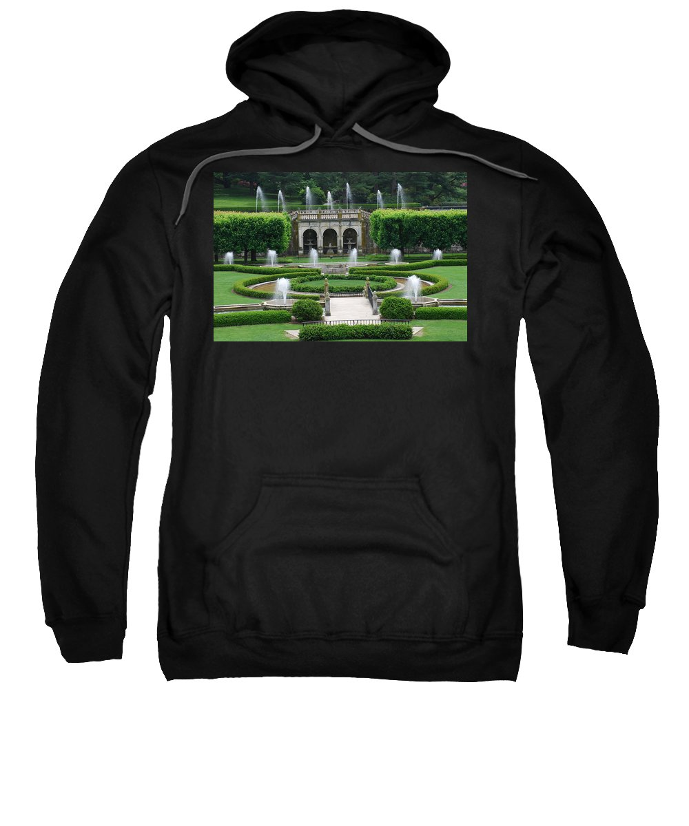 Fountain Sweatshirt featuring the photograph Longwood Fountains by Richard Bryce and Family