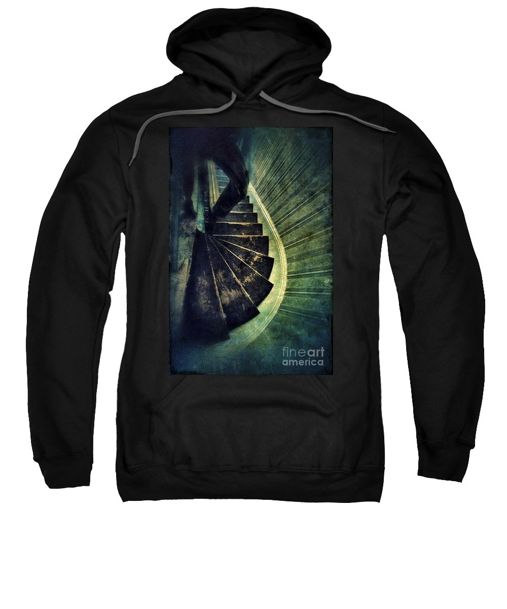 Stairs Sweatshirt featuring the photograph Looking Down An Old Staircase by Jill Battaglia