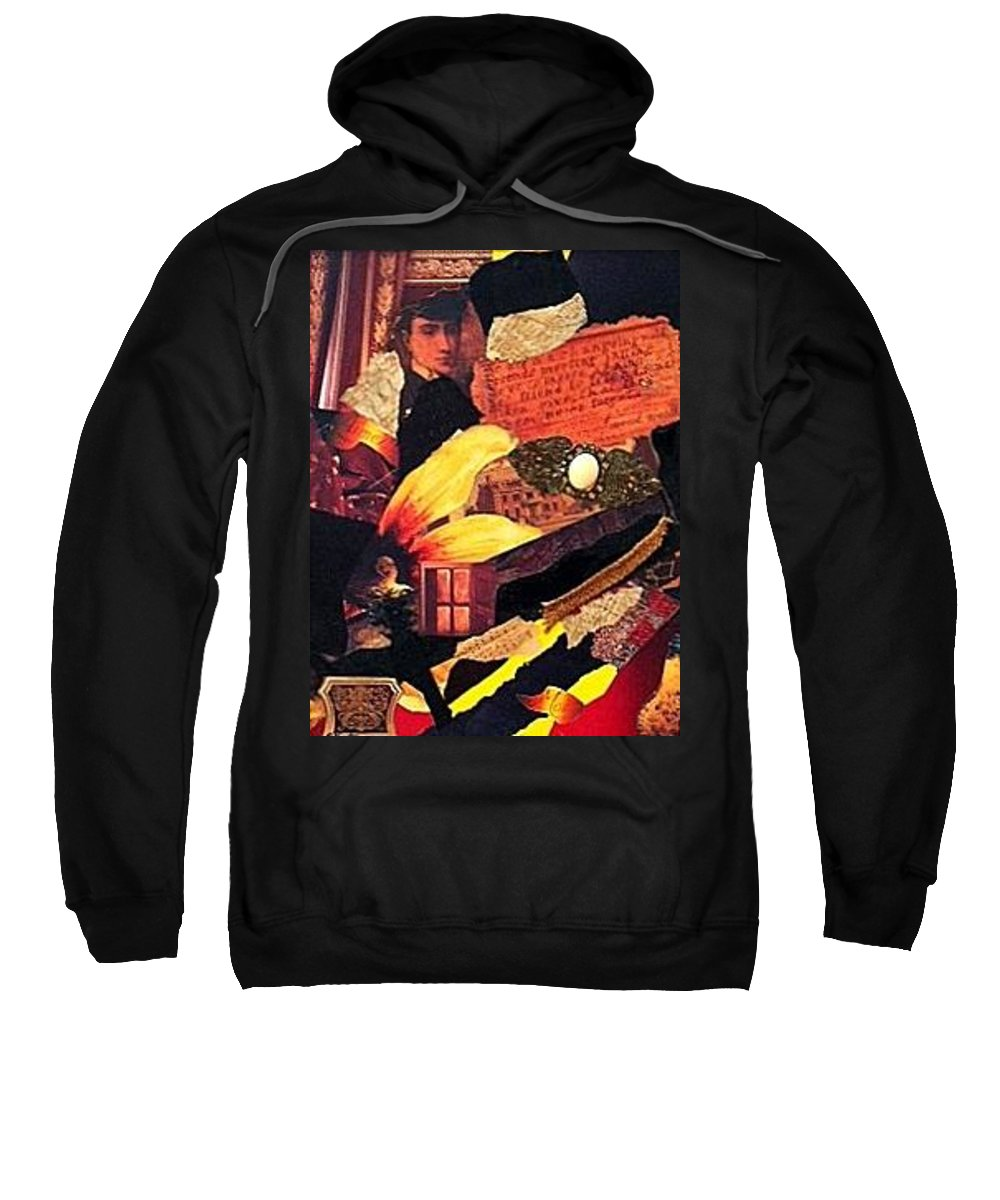 Collage Sweatshirt featuring the mixed media Lost Love by Gail Kirtz