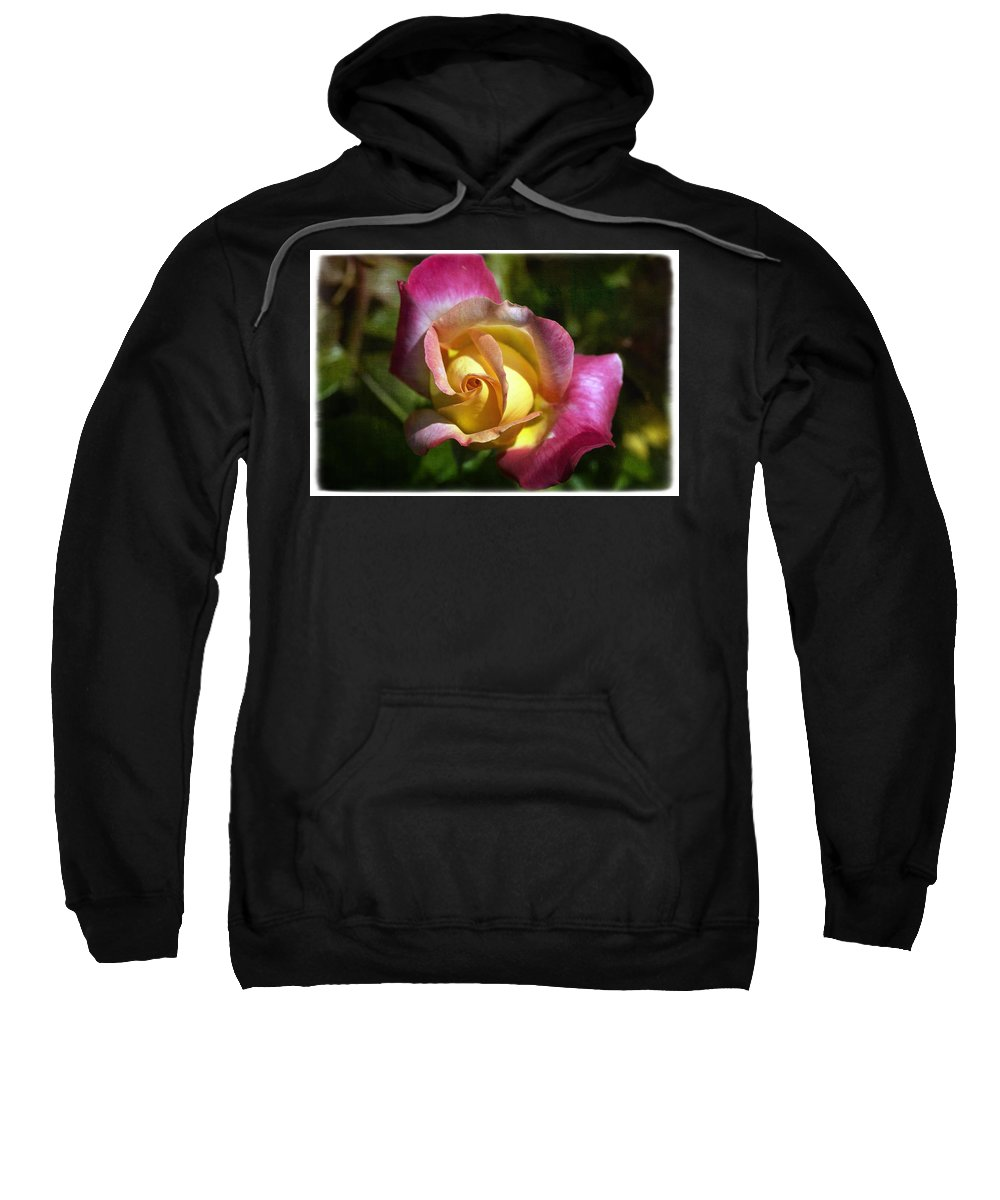 Florals Sweatshirt featuring the photograph Love N Peace by Linda Dunn