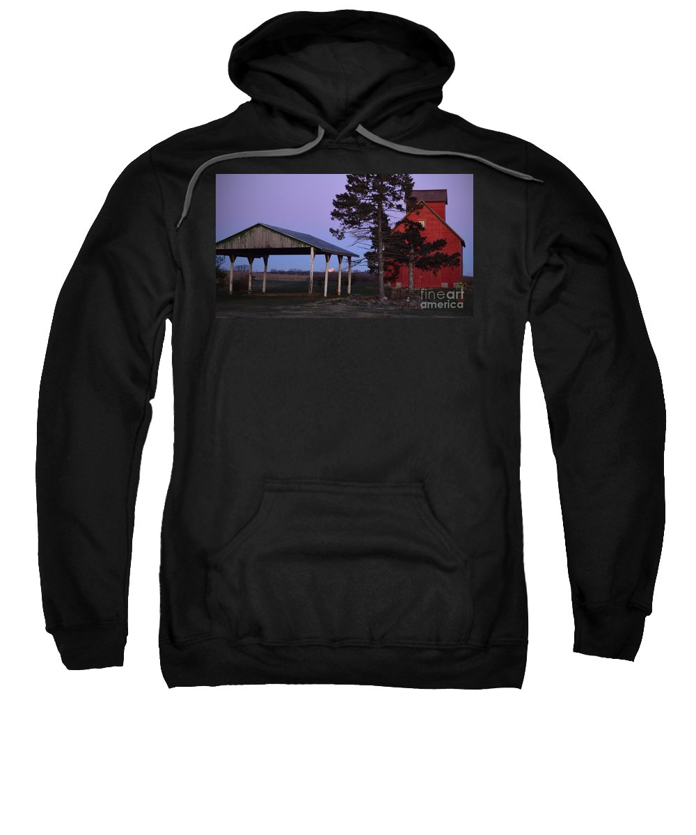Color Photography Sweatshirt featuring the photograph Lunar Eclipse At The Farm by Sue Stefanowicz