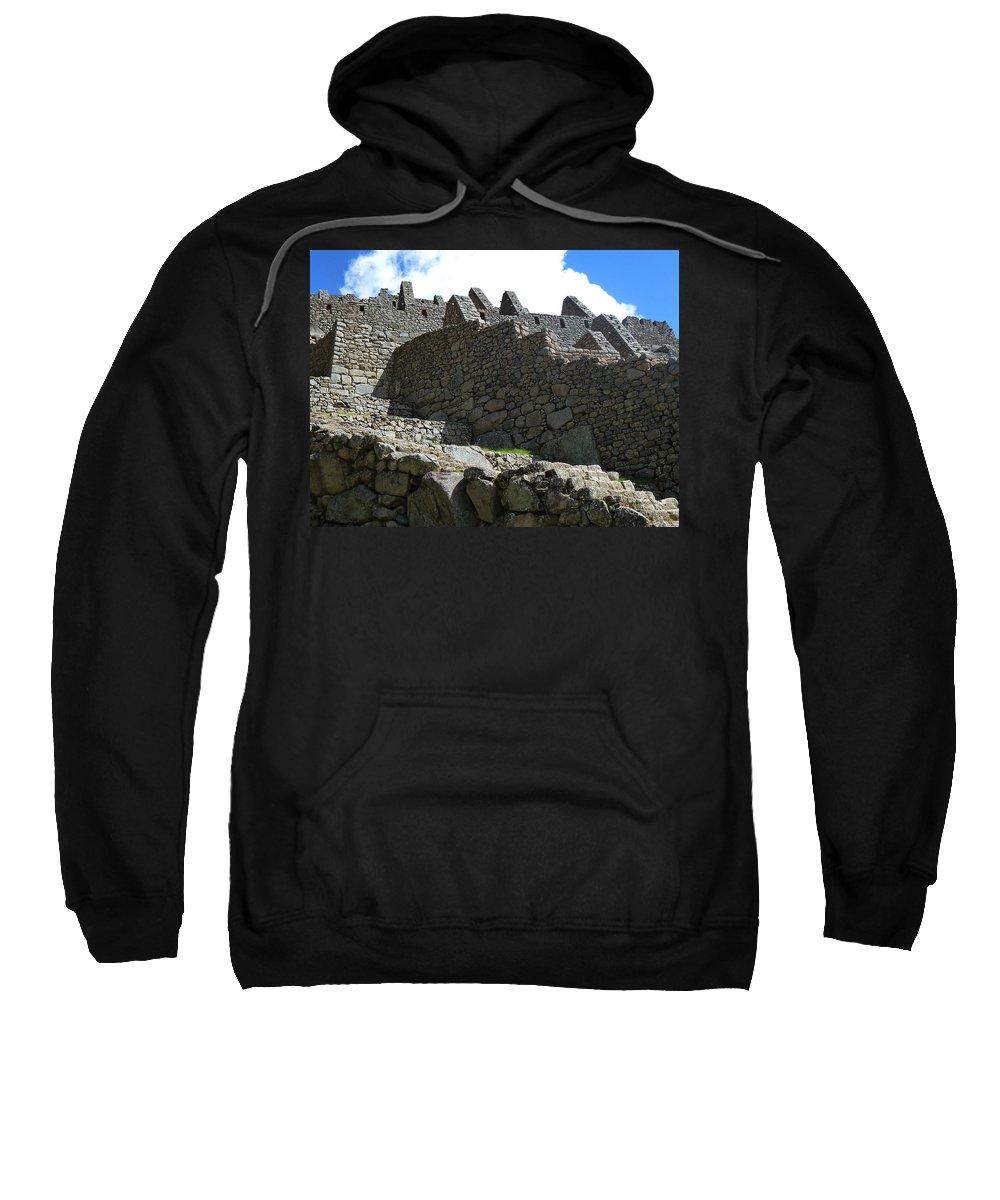Peru Sweatshirt featuring the photograph Machu Picchu Peru 12 by Xueling Zou