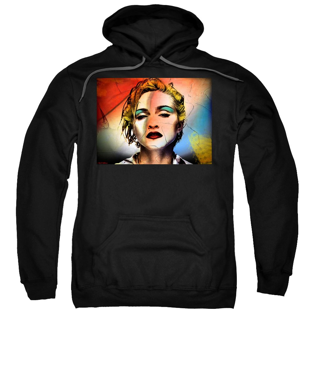 Madonna Sweatshirt featuring the painting Madonna by Mark Ashkenazi