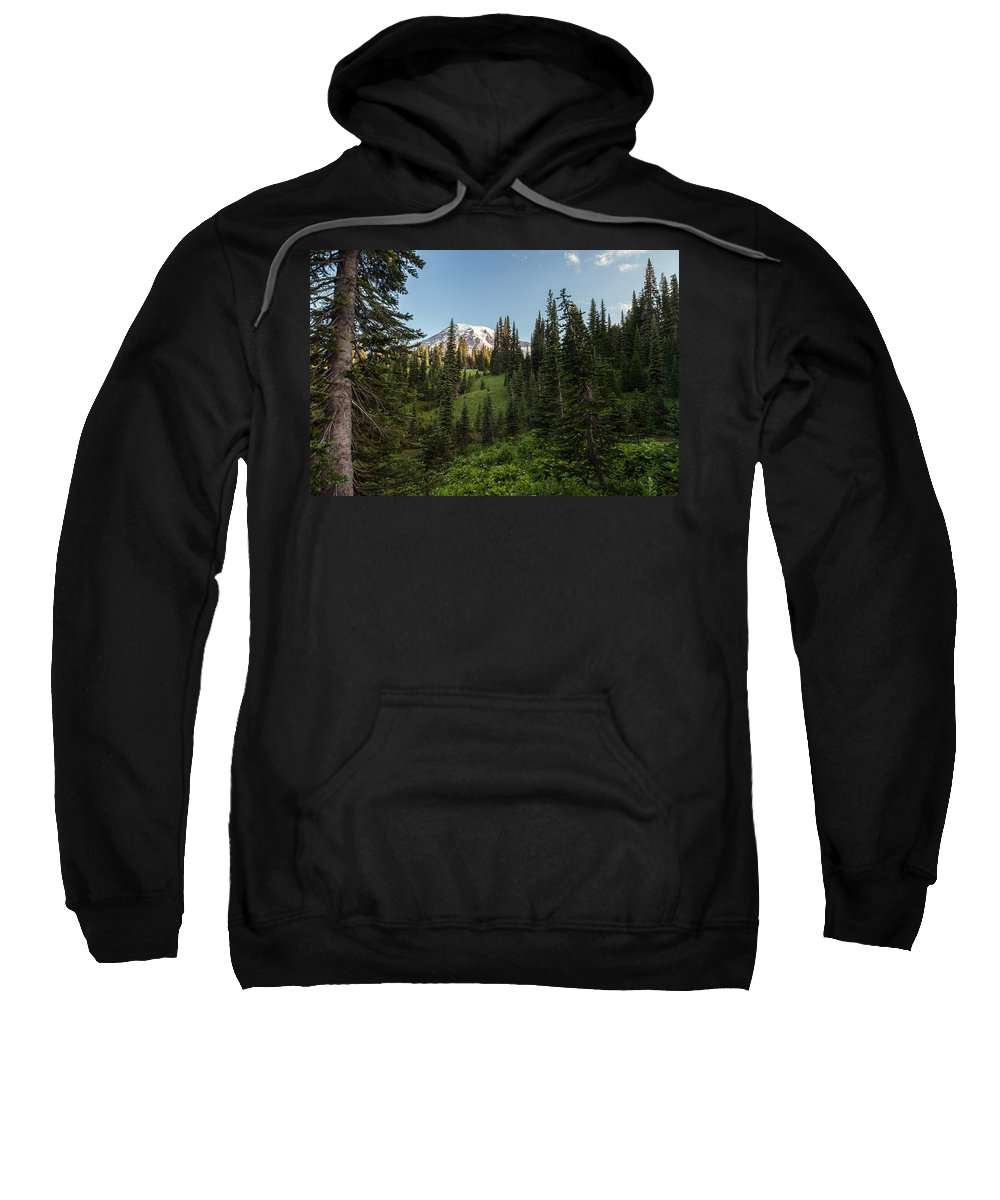 Rainier Sweatshirt featuring the photograph Majestic Rainier by Mike Reid