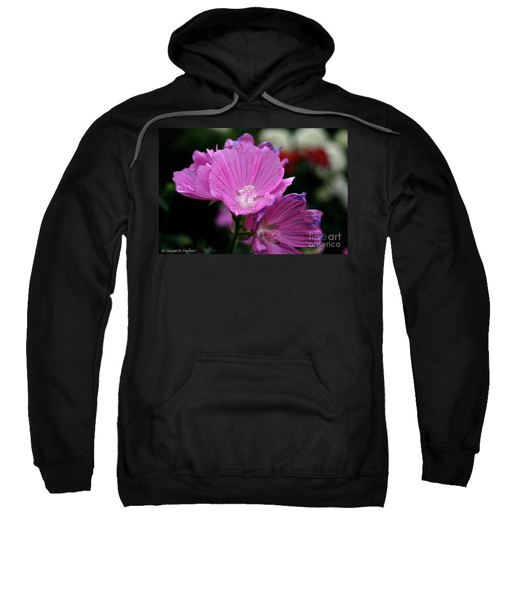 Floral Sweatshirt featuring the photograph Mallow by Susan Herber