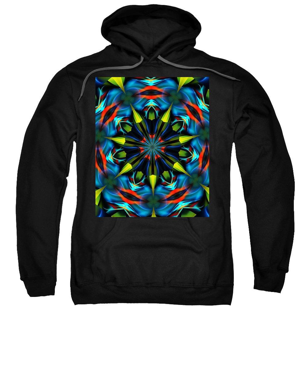 Mandela Sweatshirt featuring the digital art Mandela 102311 by David Lane