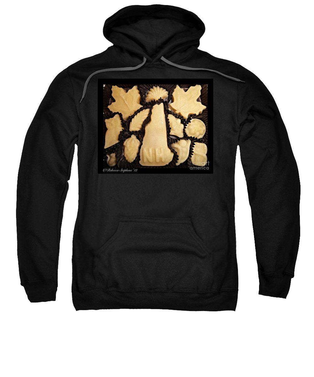Maple Sweatshirt featuring the photograph Maple Sugar Candies by Rebecca Stephens