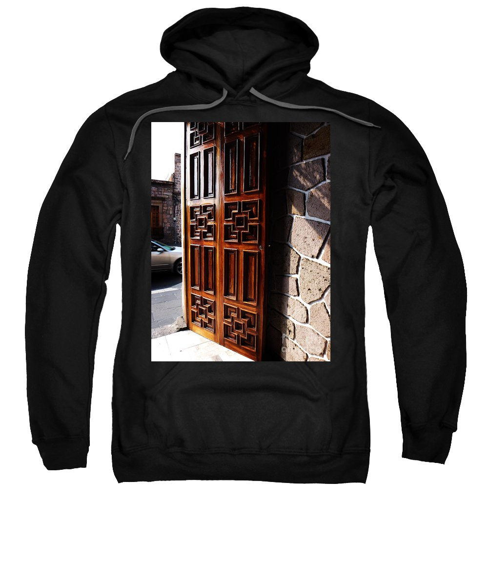 North America Sweatshirt featuring the photograph Mexican Door 42 by Xueling Zou