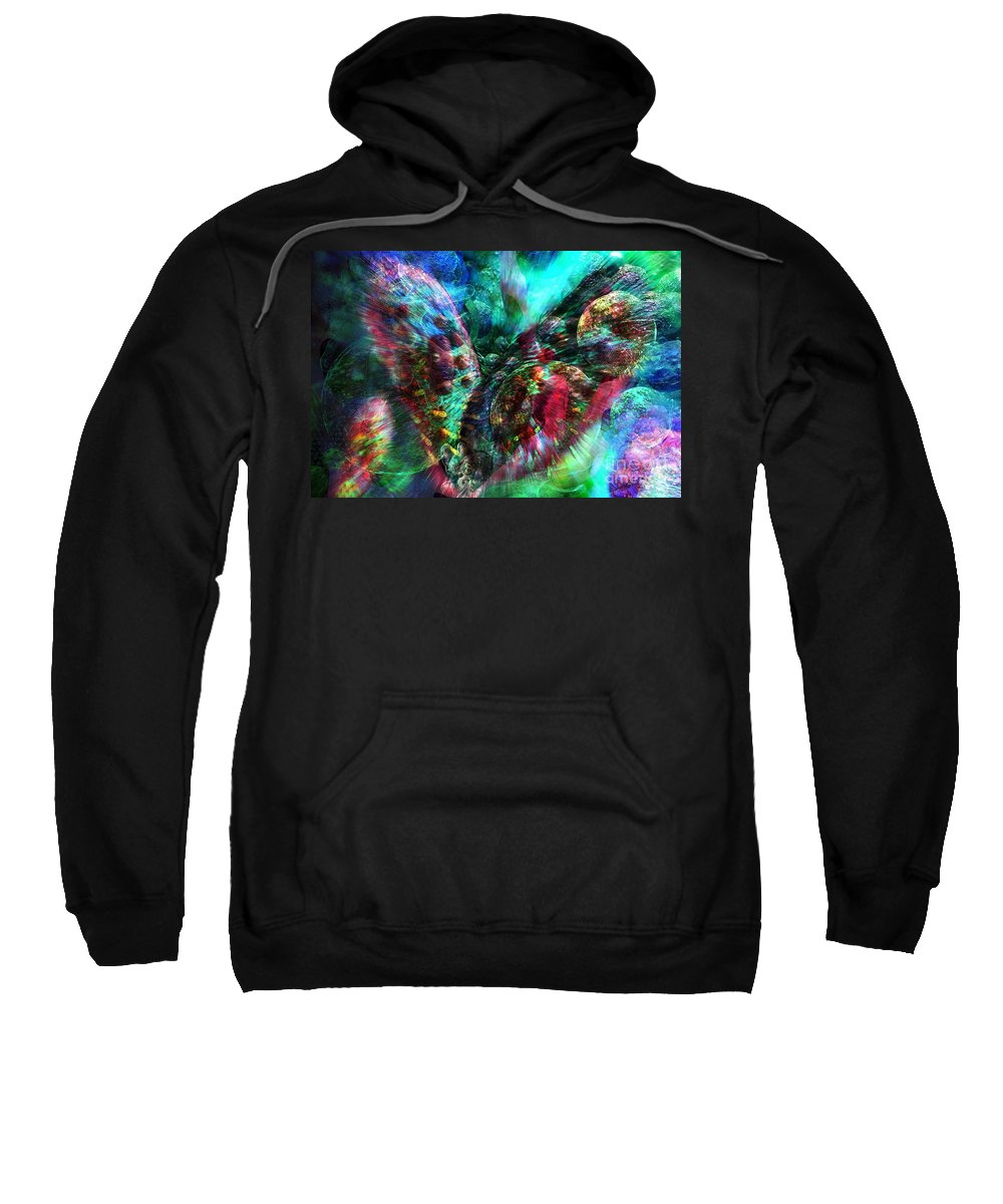 Abstract Sweatshirt featuring the digital art Microscope Dreaming 2 by Russell Kightley