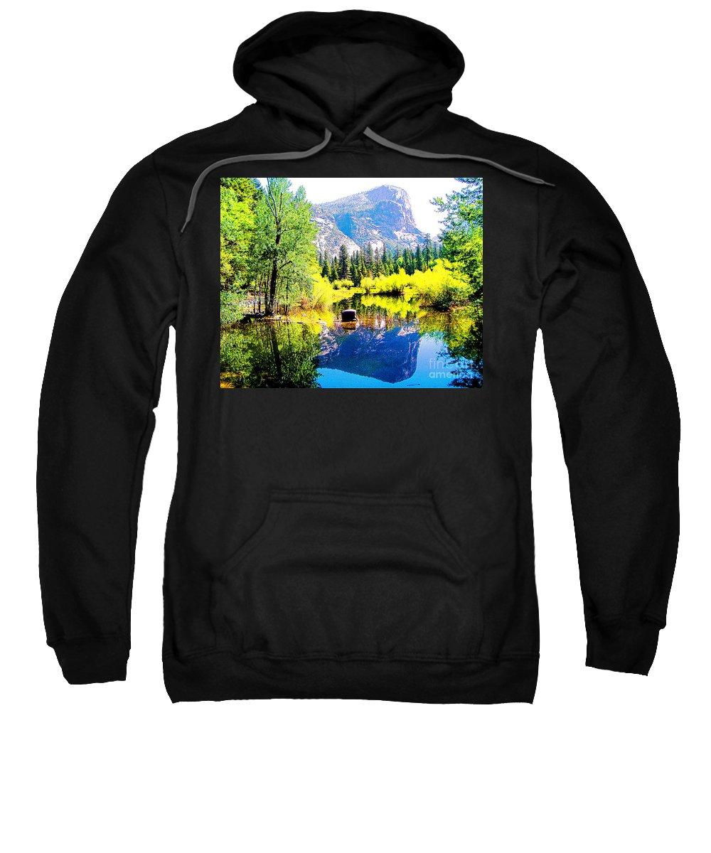 Mirror Lake Sweatshirt featuring the photograph Mirror Lake Yosemite National Park by Jerome Stumphauzer