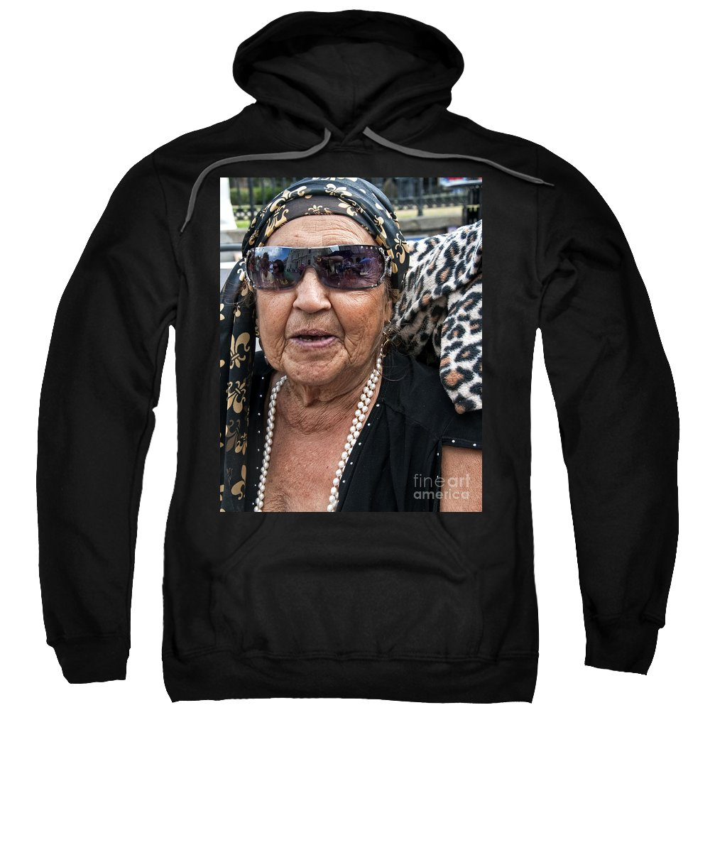 Photography Sweatshirt featuring the photograph Miss Lena - New Orleans Psychic by Kathleen K Parker