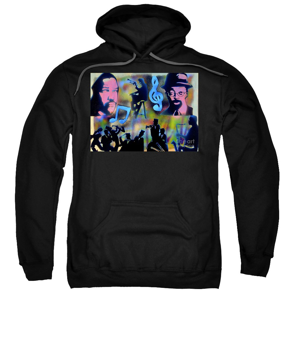 Spike Lee Sweatshirt featuring the painting Mo Betta Blues by Tony B Conscious
