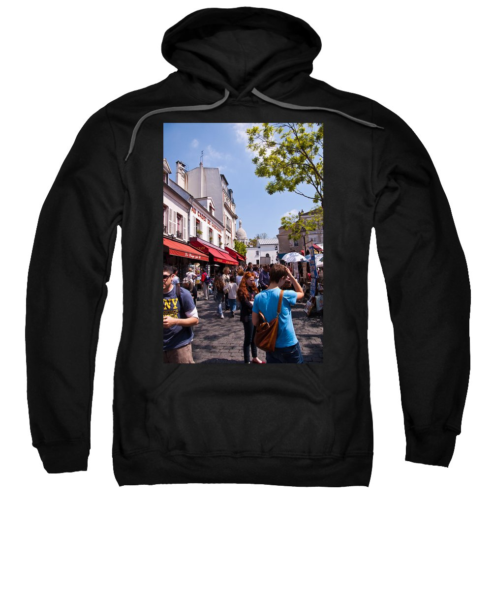 France Sweatshirt featuring the photograph Montmartre Artist Colony by Jon Berghoff