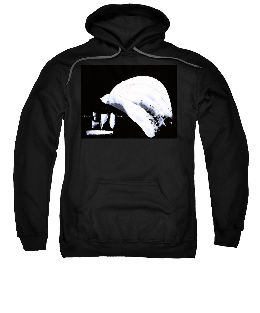Moon Flux Sweatshirt featuring the painting Moon Flux by Taylor Webb