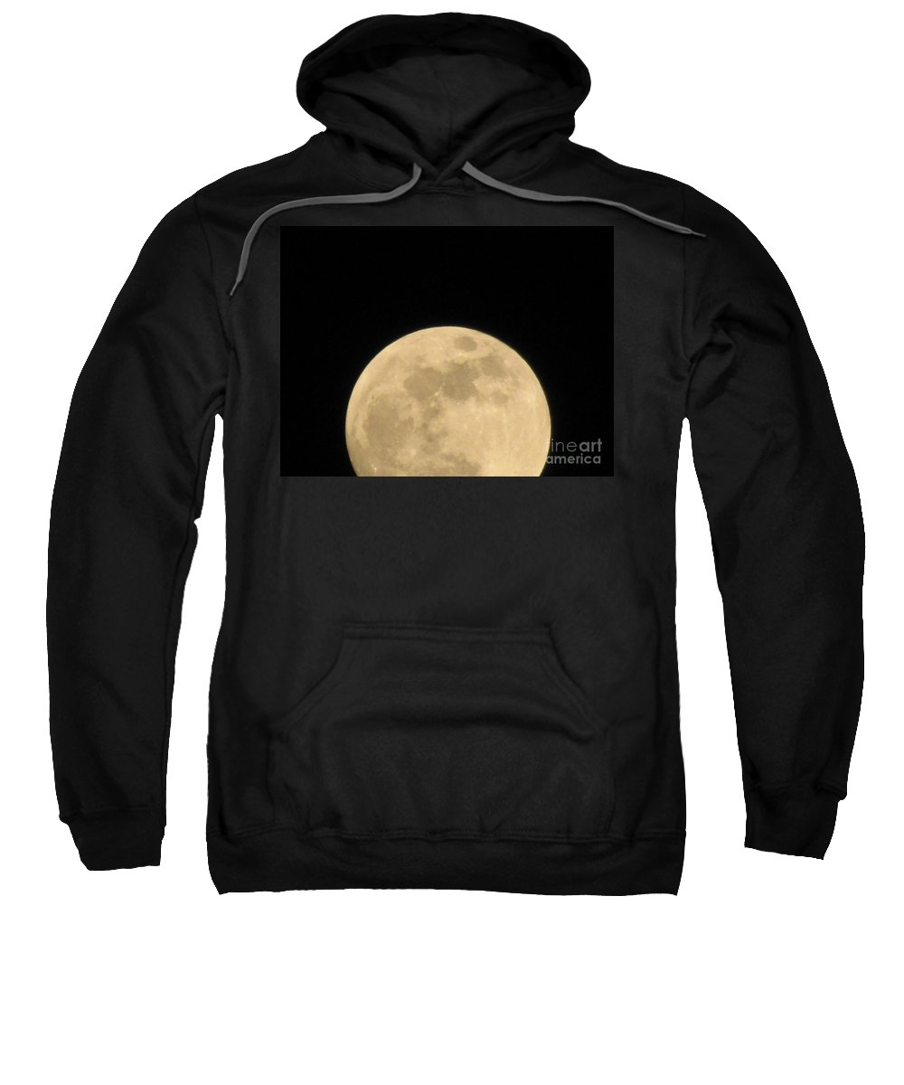 Astronomy Sweatshirt featuring the photograph Moon Galaxy Saturn by Michelle Powell