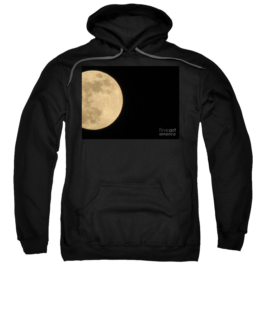Astronomy Sweatshirt featuring the photograph Moon In Galaxy Uranus by Michelle Powell