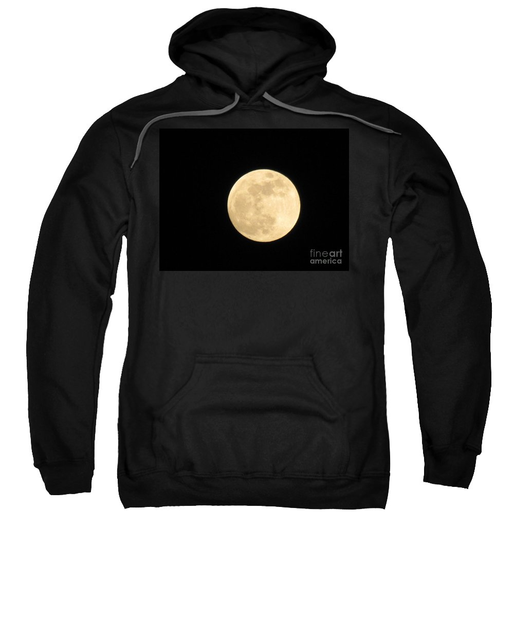 Astronomy Sweatshirt featuring the photograph Moon In Galaxy Venus by Michelle Powell