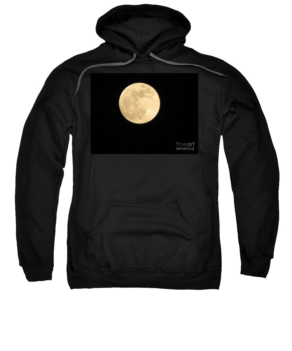 Astronomy Sweatshirt featuring the photograph Moon In The Galaxy Mars by Michelle Powell