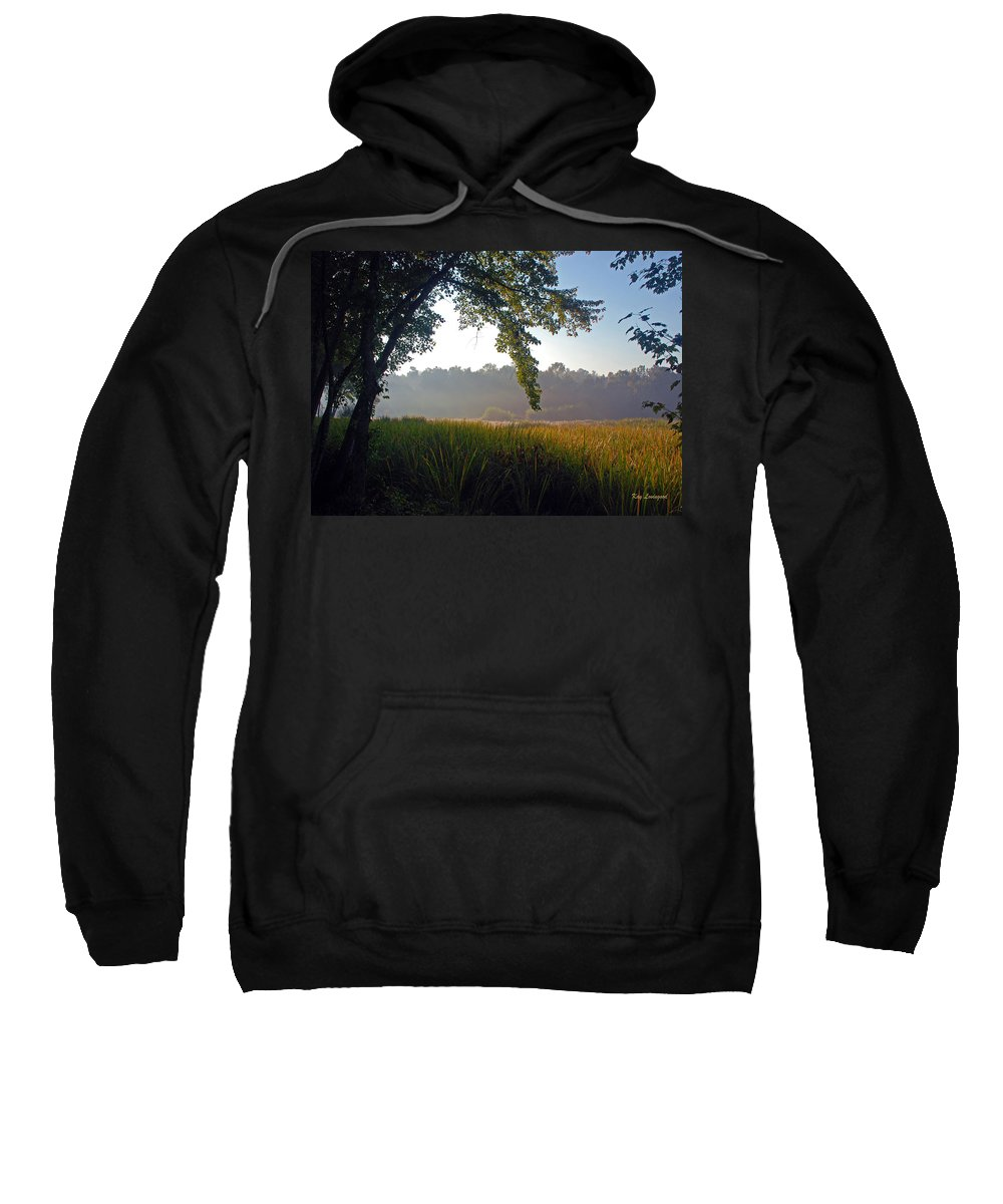 Morning Sweatshirt featuring the photograph Morning On The River by Kay Lovingood