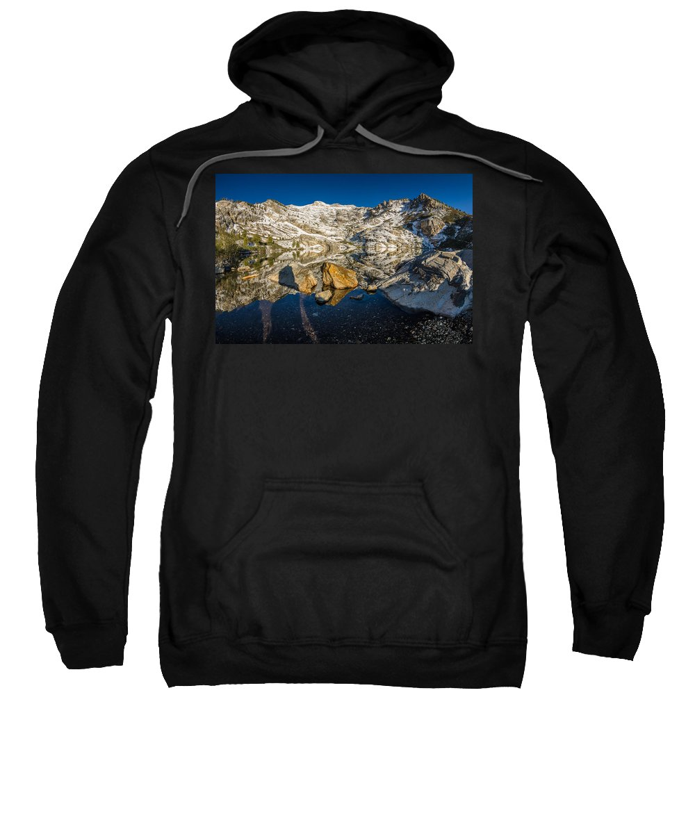 Great Basin Sweatshirt featuring the photograph Morning Sun On Angel Lake by Greg Nyquist