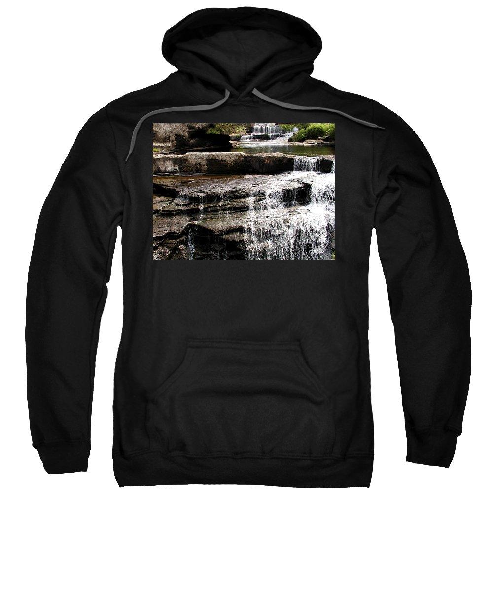 Mountain Stream Waterfall Sweatshirt featuring the photograph Mountain Waterfall by Bill Cannon