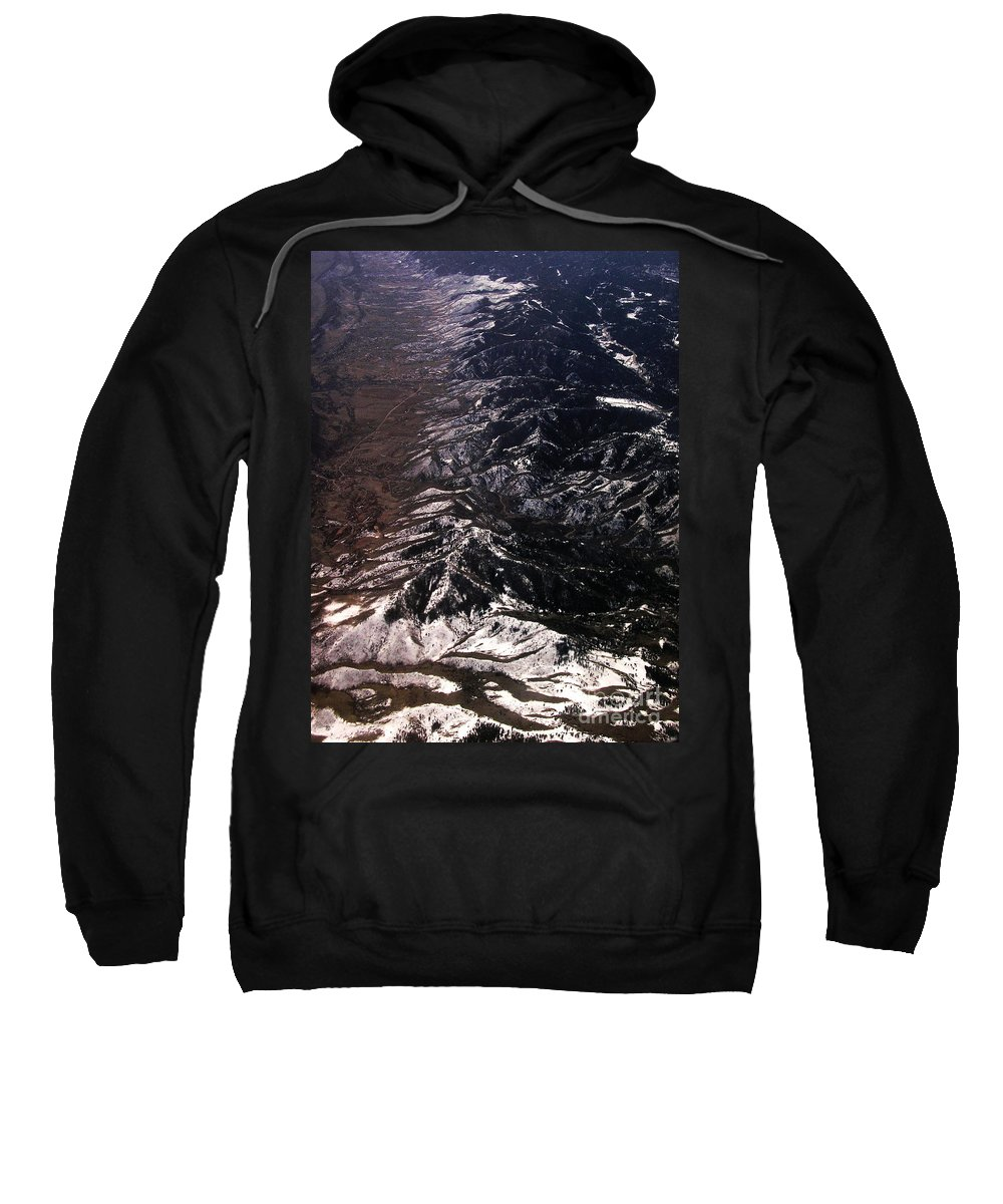 Aerial Sweatshirt featuring the photograph Mountainous by Anthony Wilkening