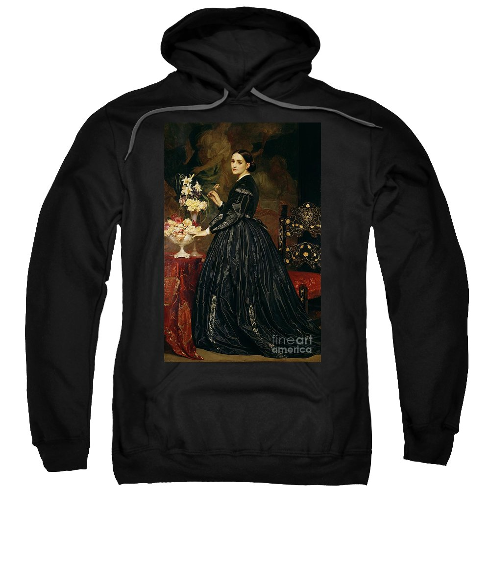 Mrs Sweatshirt featuring the painting Mrs James Guthrie by Frederic Leighton