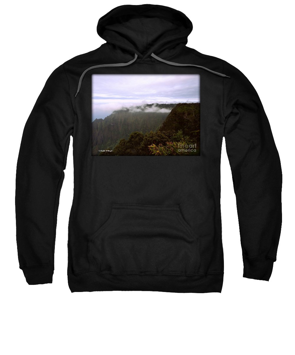 Mt Waialeale Sweatshirt featuring the photograph Mt Waialeale by Paulette B Wright