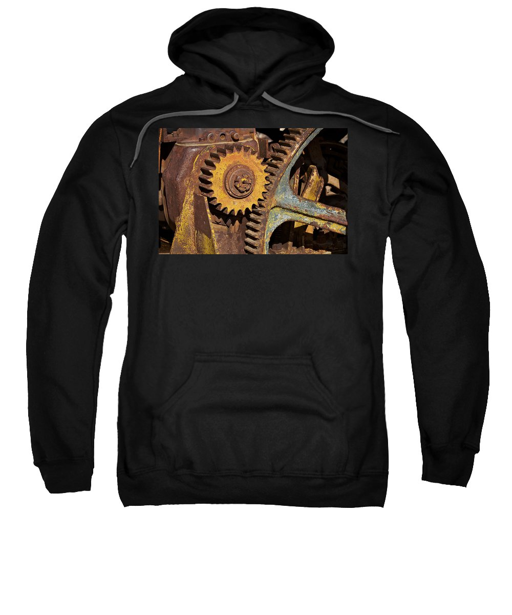 Gears Sweatshirt featuring the photograph Mud Caked Gears by Phyllis Denton