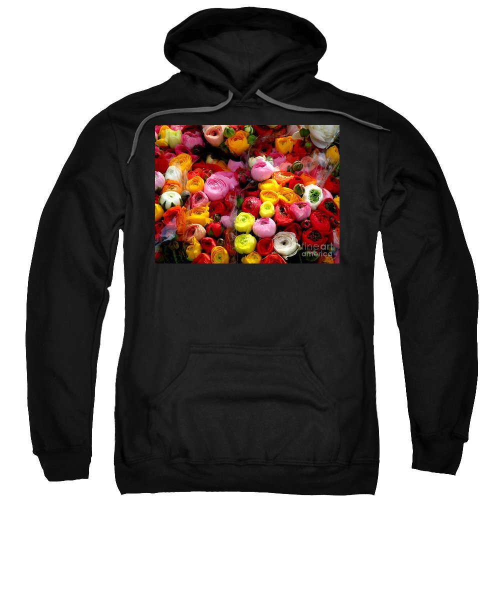Flowers Sweatshirt featuring the photograph Multicolor by Lainie Wrightson