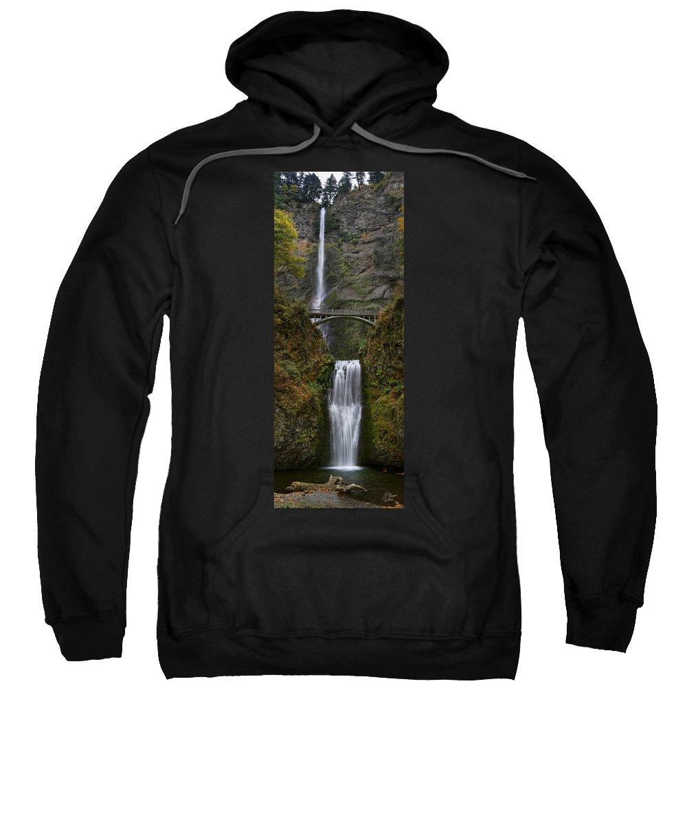 Waterfall Sweatshirt featuring the photograph Multnomah Falls by Tamara Brown
