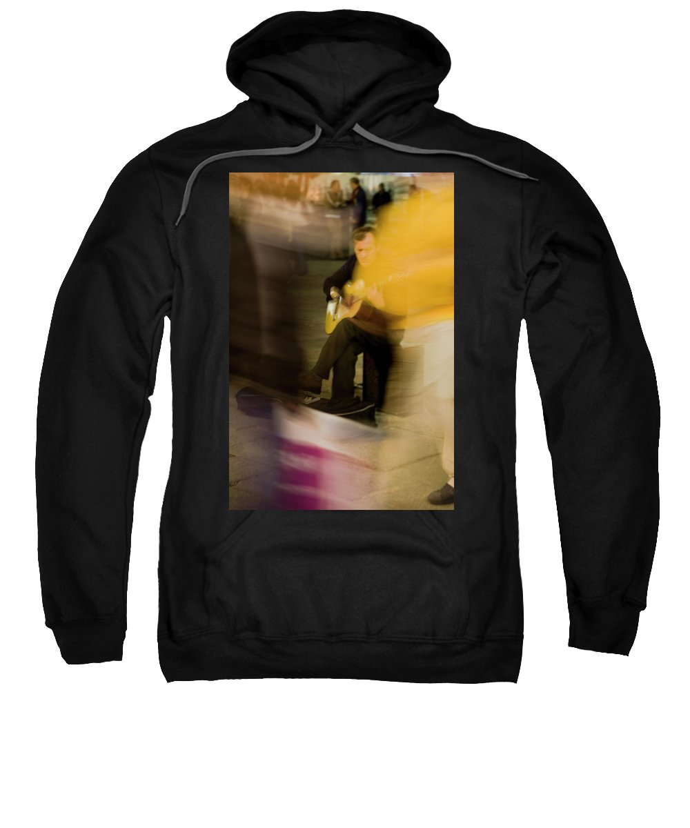 Madrid Sweatshirt featuring the photograph Music In The Flow Of Motion by Lorraine Devon Wilke