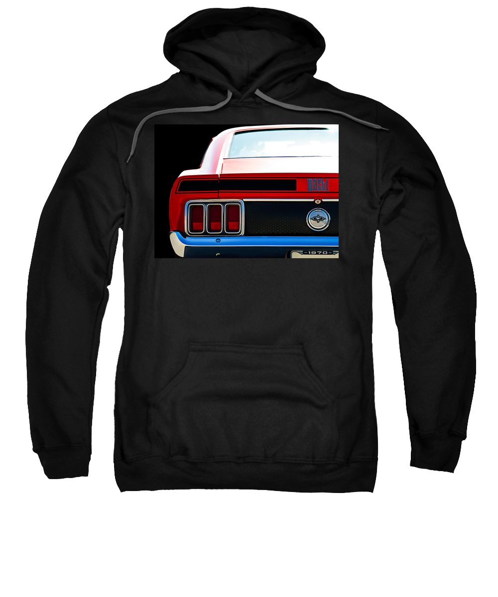 Classic Sweatshirt featuring the digital art Mustang Mach 1 by Douglas Pittman