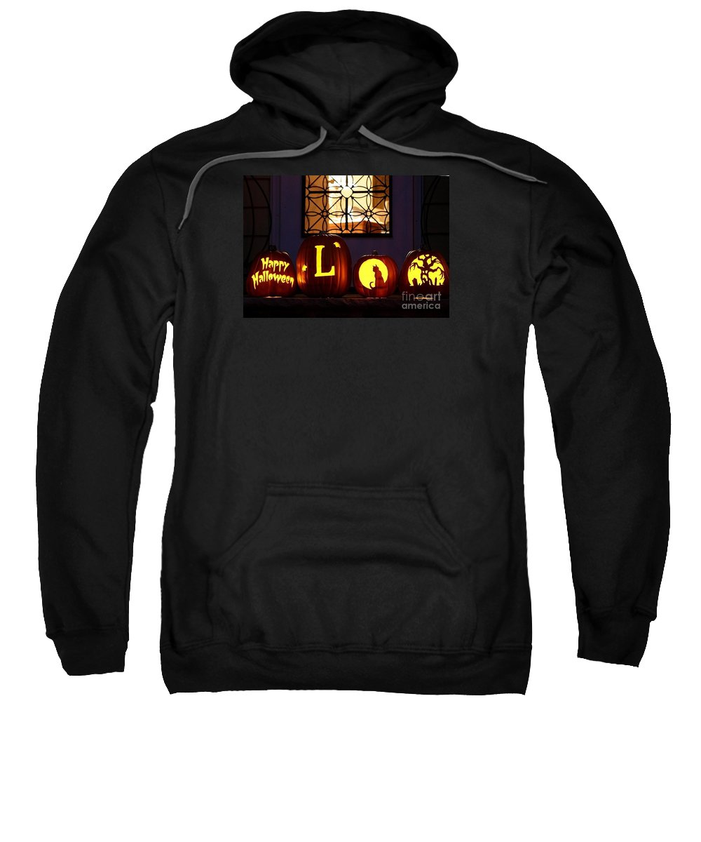 Pumpkins Sweatshirt featuring the photograph My Pumpkins by Living Color Photography Lorraine Lynch