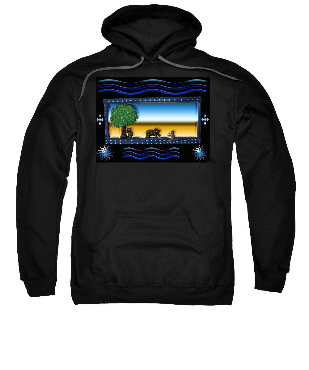 Trees Sweatshirt featuring the photograph My Son With His Friendly Bears by Robert Margetts
