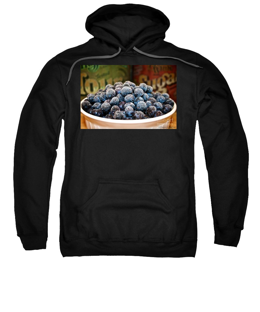 Blueberries Sweatshirt featuring the photograph Nature's Candy by Susan Herber