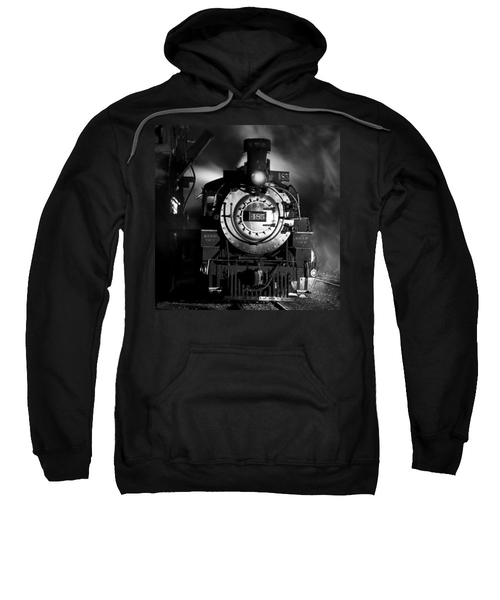 Steam Train Photographs Sweatshirt featuring the photograph Need More Coal by Ken Smith