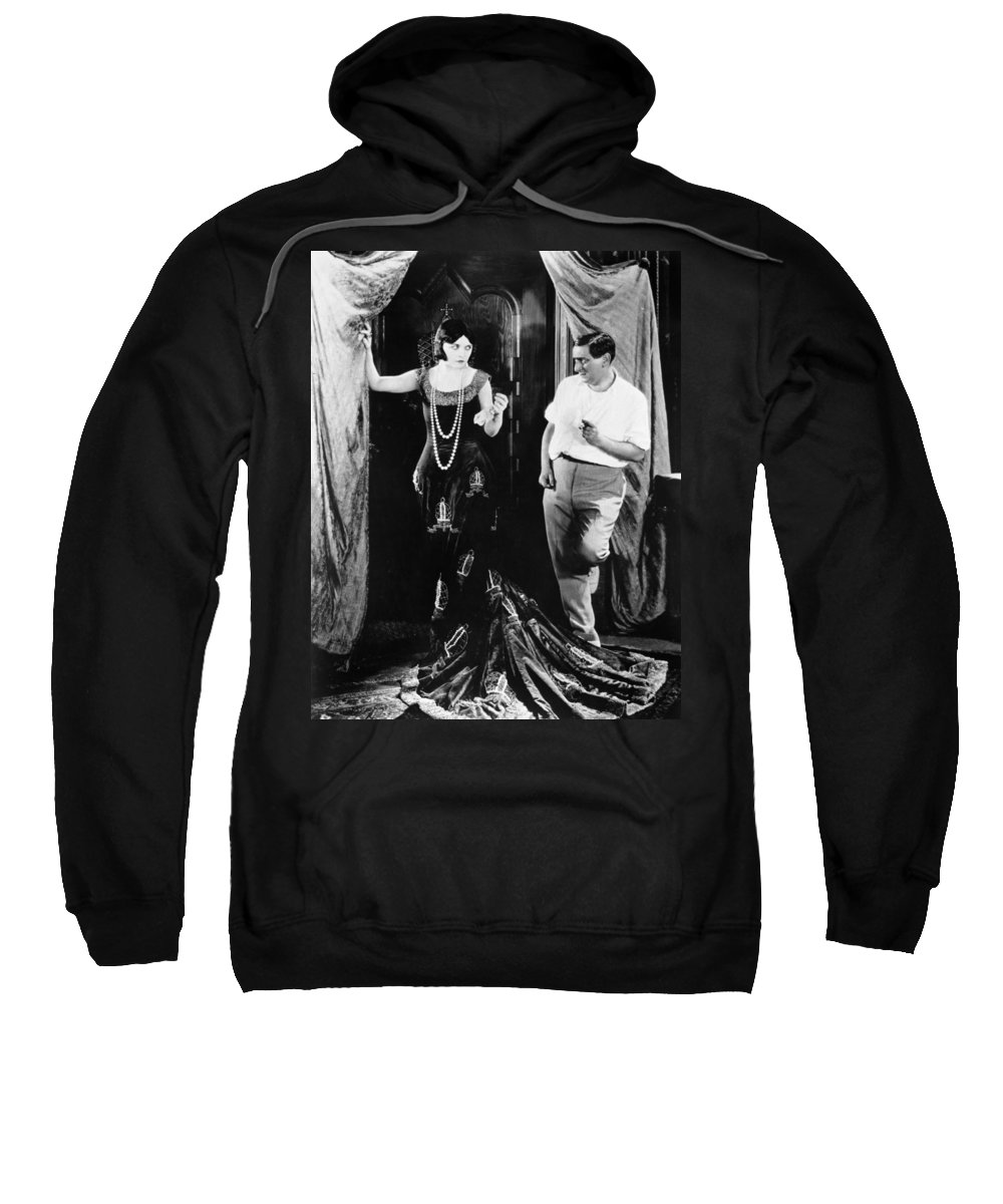 1920s Sweatshirt featuring the photograph Negri And Lubitsch by Granger