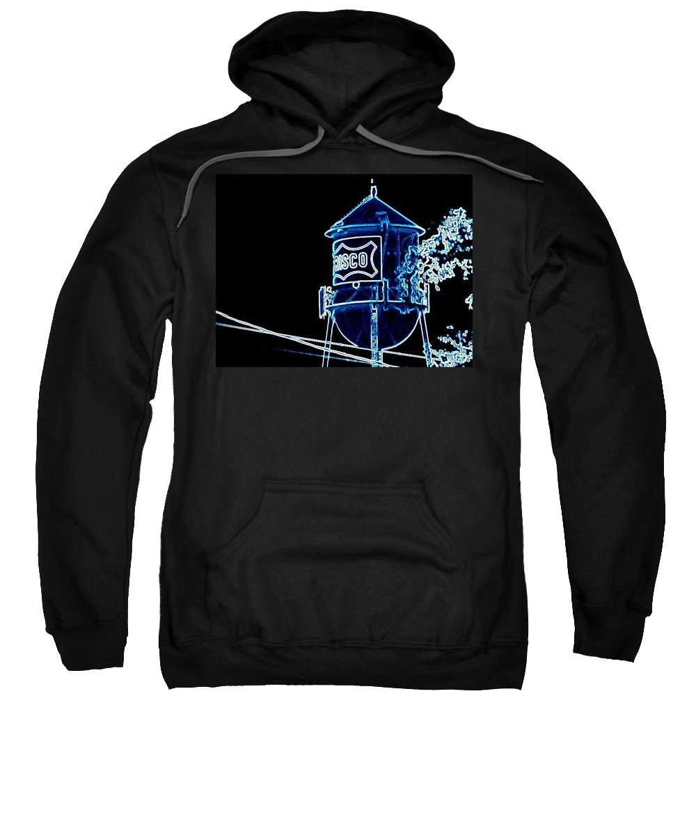 Sweatshirt featuring the photograph Neon Water Tower by Amy Hosp